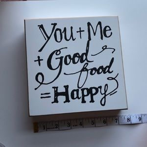 """Other - """"You + Me + Good food = Happy"""" Wall Decor (#4)"""